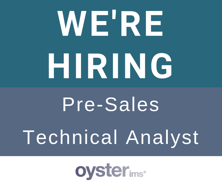 Oyster IMS vacancy - Pre-sales technical consultant