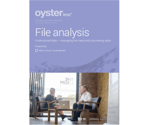 File analysis brochure from Oyster IMS - MicroFocus ControlPoint