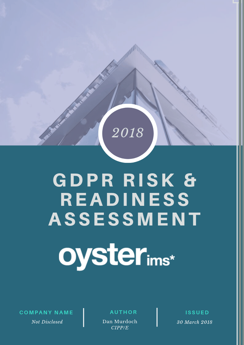 GDPR Risk and Readiness Assessment - Oyster IMS