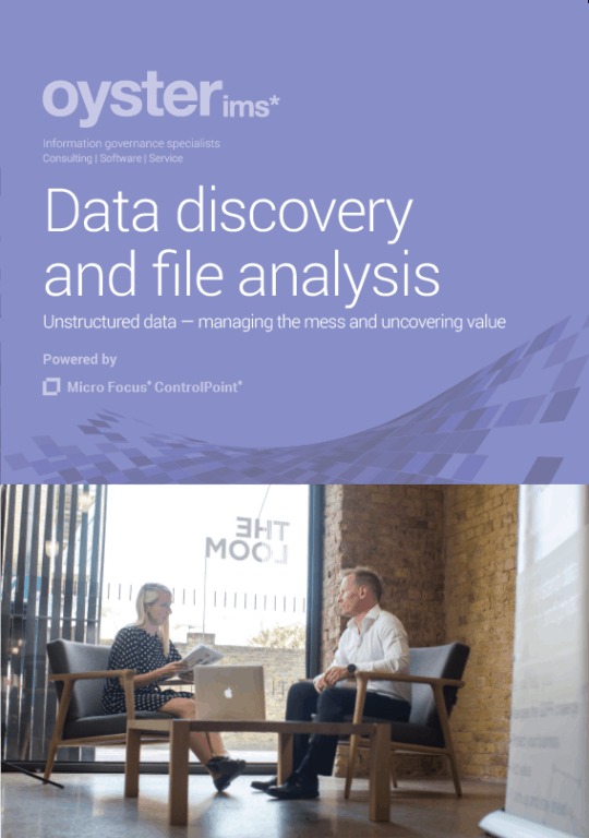 Data Discovery and file analysis brochure - Oyster IMS - Micro Focus ControlPoint (IMG)
