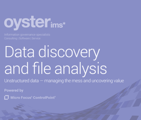 Data discovery and file analysis brochure - Oyster IMS - Micro Focus ControlPoint