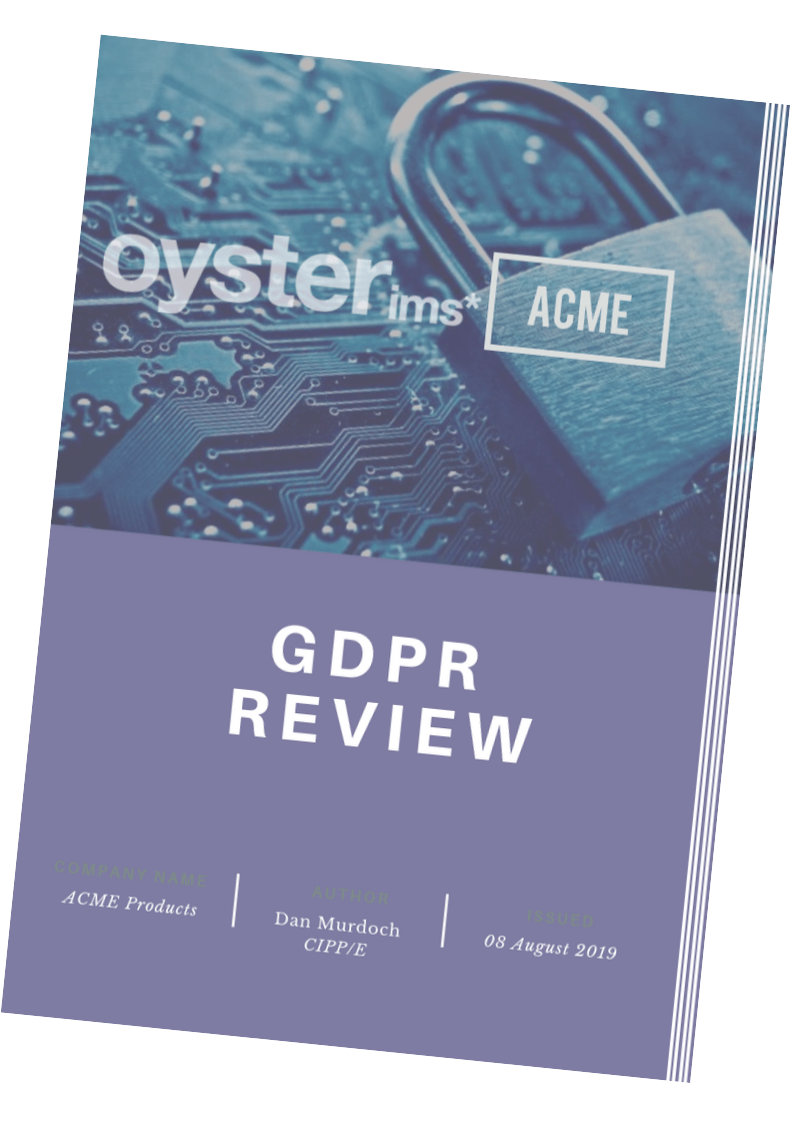 GDPR Review Report - Oyster IMS