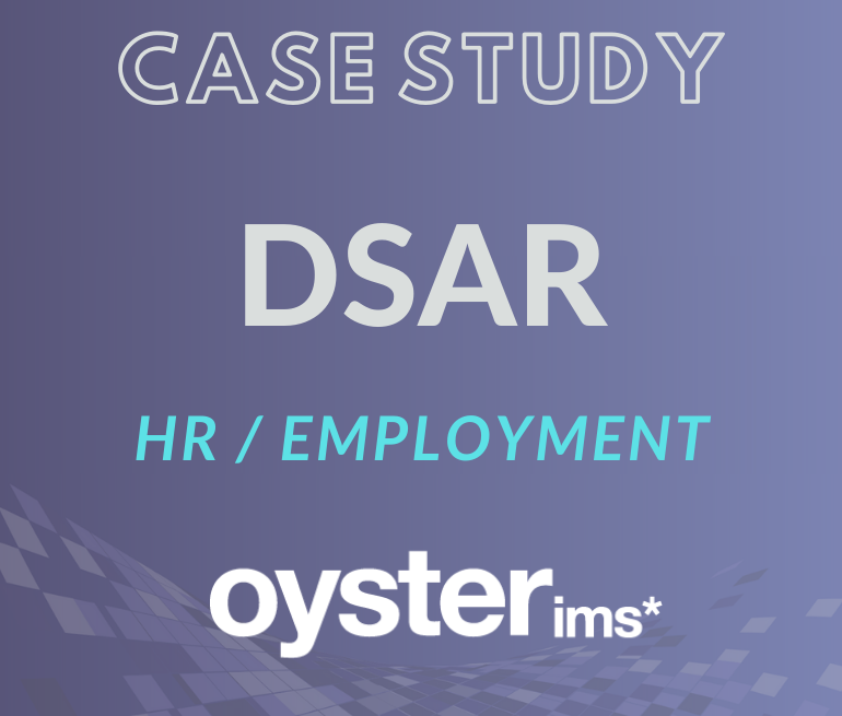 CASE STUDY- DSAR - OYSTER IMS